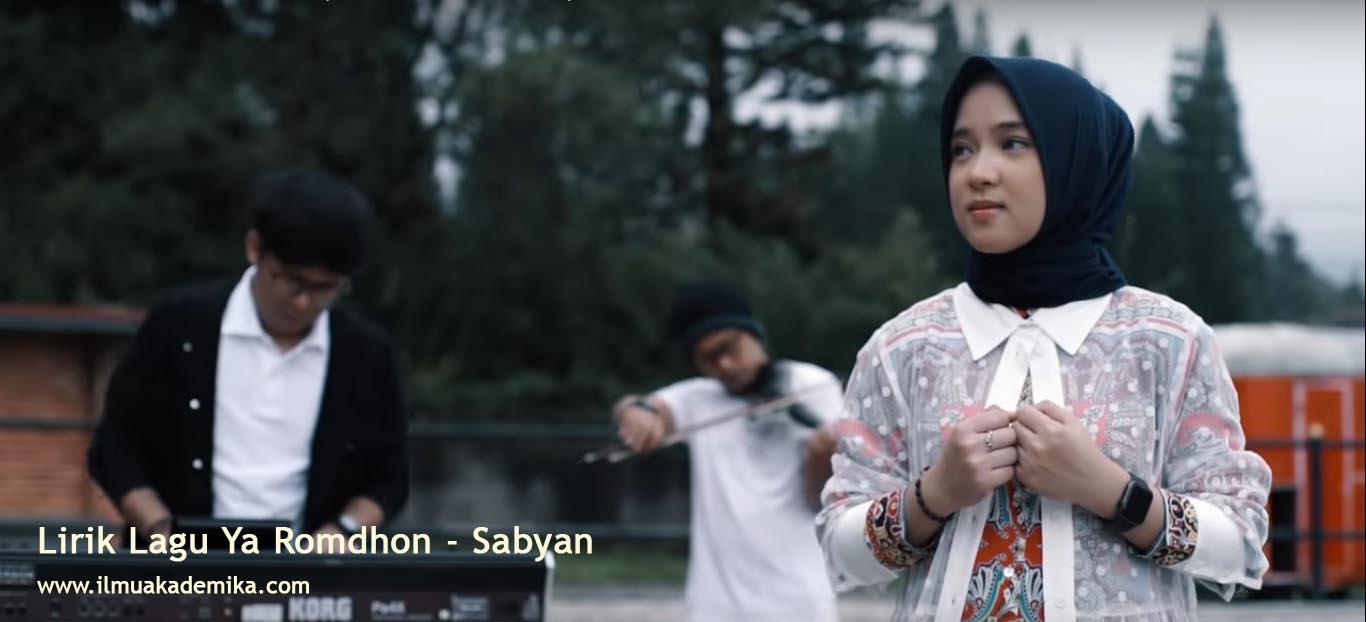 Lirik Lagu Ya Romdhon - Sabyan