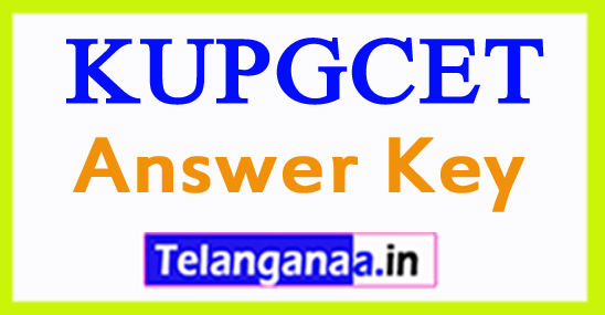 KUPGCET Answer Key 2018 Kakatiya University PGCET