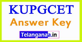 KUPGCET Answer Key 2017 Kakatiya University PGCET