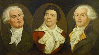 Danton, Marat y Robespierre