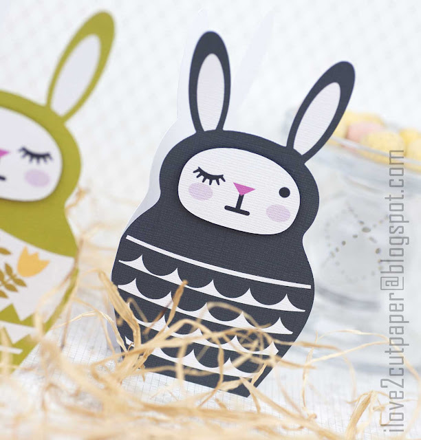 Bunny Babooshka, Shaped Cards, Easter bunny, ilove2cutpaper, LD, Lettering Delights, Pazzles, Pazzles Inspiration, Pazzles Inspiration Vue, Inspiration Vue, Print and Cut, svg, cutting files, templates, Silhouette Cameo cutting machine, Brother Scan and Cut, Cricut