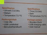 Spezifikationen: kwmobile Wecker Digital Uhr aus Holz mit Geräuschaktivierung, Temperaturanzeige und Tastaktivierung
