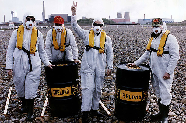 u2 protesting about nuclear waste