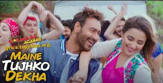"Maine Tujhko Dekha From Golmaal Again (2017) - A remake of Anu Malik's ""Neend Churayi Meri"" from Ajay Devgan and Aamir Khan starrer Ishq (1997). This new version is recreated by Anu Malik's nephew Amaal Malik and sung by Neeraj Shridhar and Sukriti Kakar while new additional lyrics are penned by Kumaar. The song is piturised on Ajay Devgn, Parineeti Chopra, Arshad Warsi, Tusshar Kapoor, Shreyas Talpade and Kunal Kemmu."