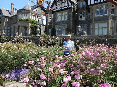 The Green Fingered Blogger amongst the roses at Bodnant