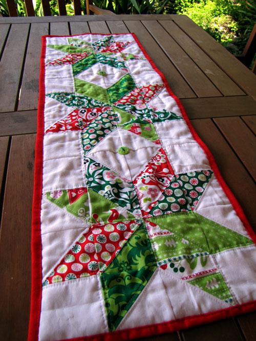 Gemini Stitches Christmas Table Runner