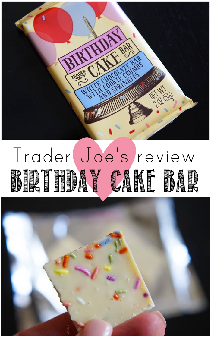 Trader Joe's Birthday Cake Bar review : weekly #traderjoes review series from bakeat350.net