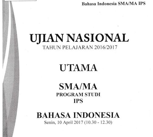 Pembahasan Soal Un 2016 2017 Bahasa Indonesia Sma Ma Nomor 1 25 Zuhri Indonesia