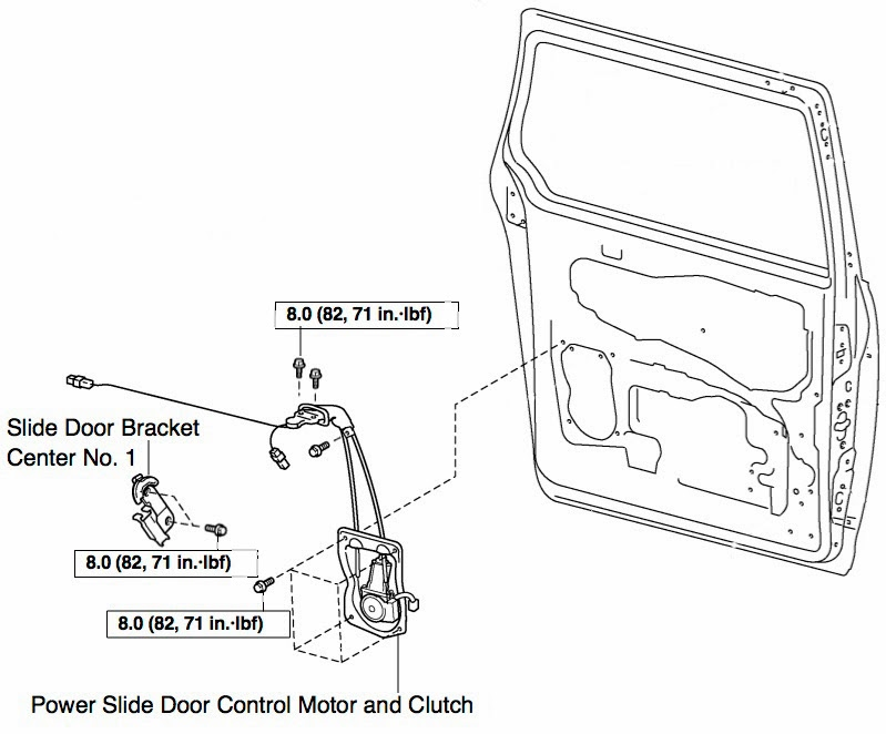 Sliding Door Parts: Toyota Sienna Sliding Door Parts Diagram