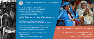 Federal Poly Nekede 19th Convocation Ceremony Date