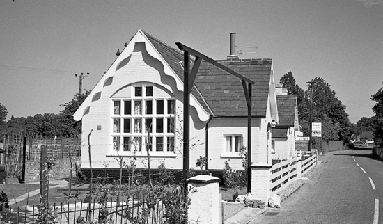 Photograph of the new conversion of Water End Girls' School to a house in May 1967. Image by R. Kingdon
