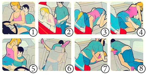 São só 8 as  melhores posições para fazer sexo no carro?