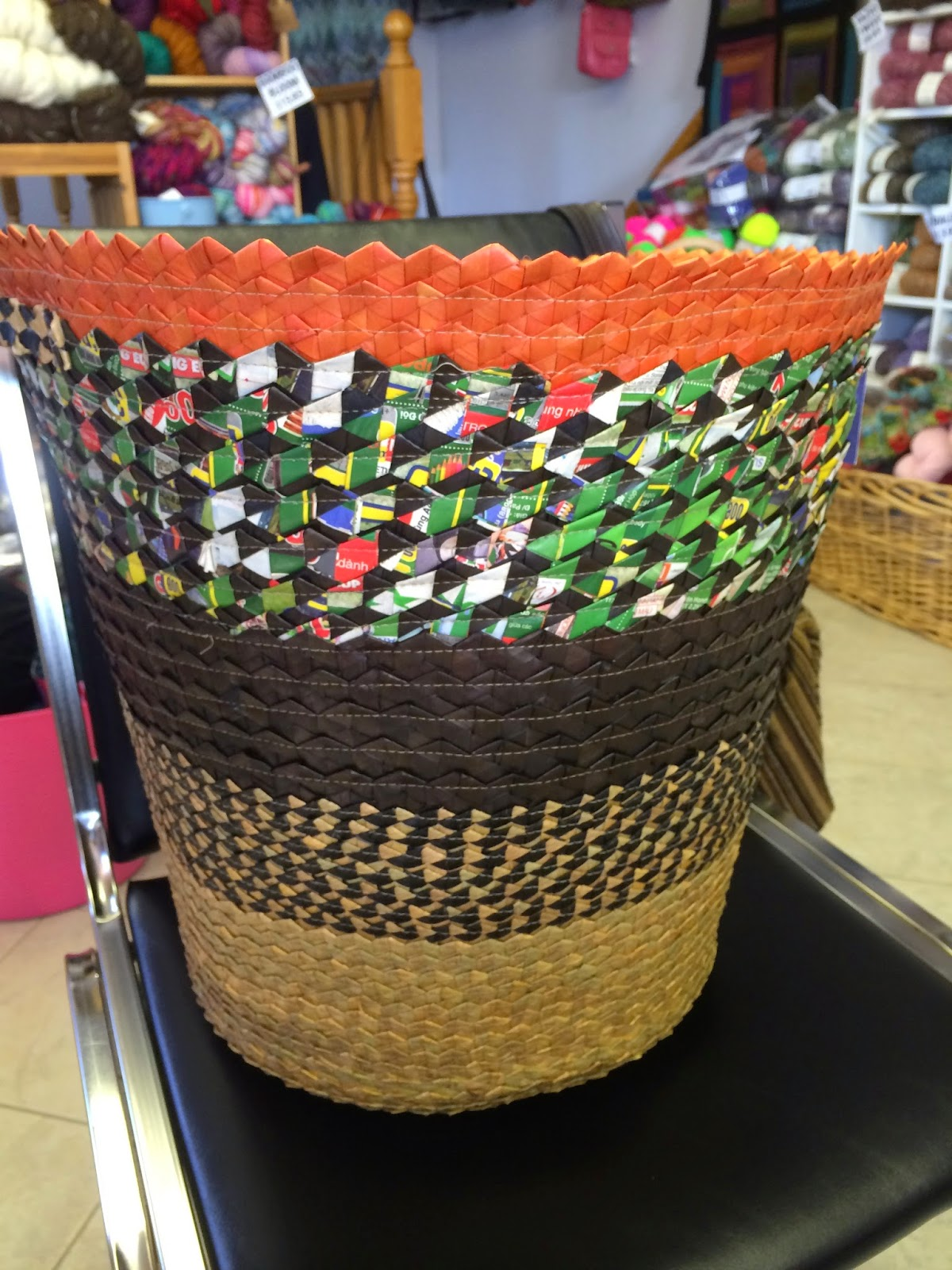Look At The Awesome Basket That Old Mill Knitting Donated