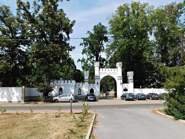 brama, pałac, opolskie, park