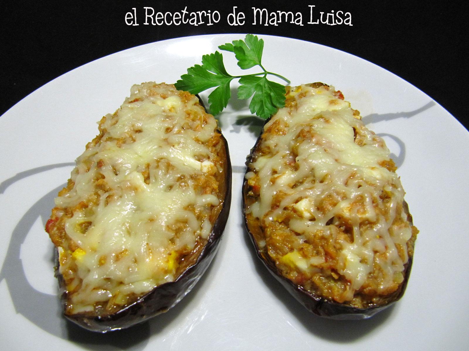 El recetario de mama luisa berenjenas rellenas de bacalao - Berenjenas rellenas de bacalao ...