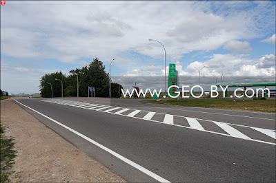 АЗС №2 Белоруснефти у въезда в Марьину горку