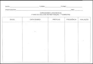 Ficha para capacidades 1º ano