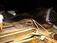 Rumah Nenek-Nenek di Pudak Ponorogo Roboh Diterjang Angin Kencang