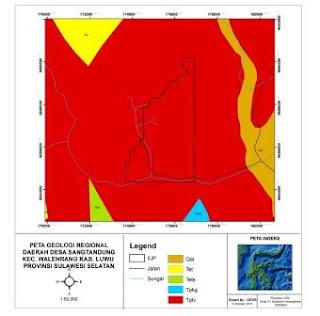 Peta Geologi Lokal daerah Lempang
