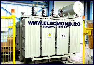 TRANSFORMATOR 6000 kVA , transformatoare de putere  6 MVA 35/6,3 kV , Transformator de putere TTU ONAN 6000 kVA , trafo , Elecmond Electric , fabrica transformatoare , transfrormatoare Craiova