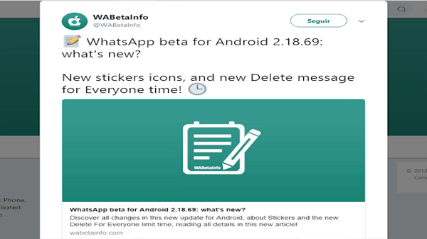 Whatsapp extend a remove messages after sending it to more than an hour and they hurried to load the new version of the application