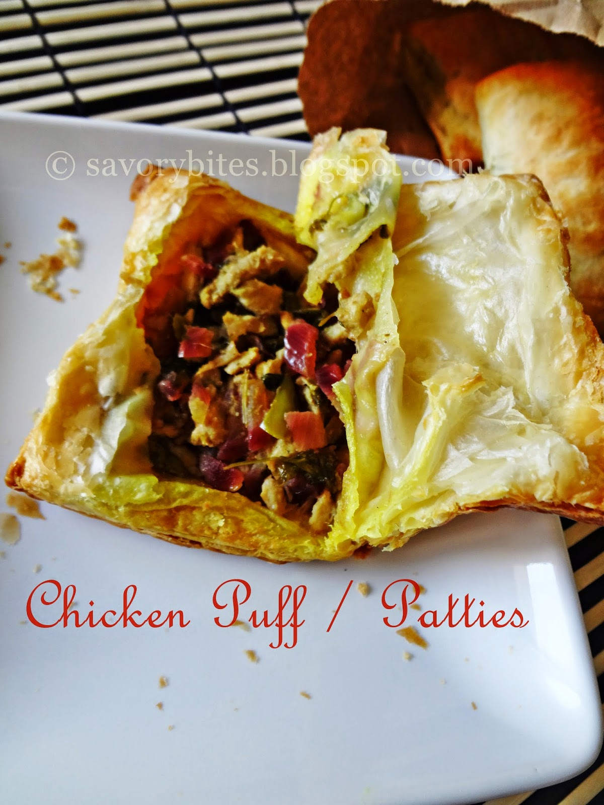 Goan Chicken Patties Puff Snacks