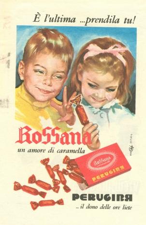 caramelle rossana pubblicita