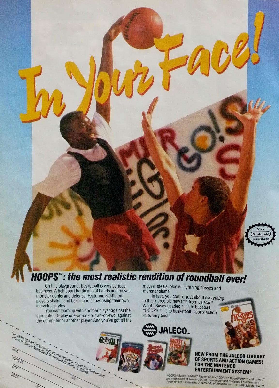 Hoops for NES advertisement
