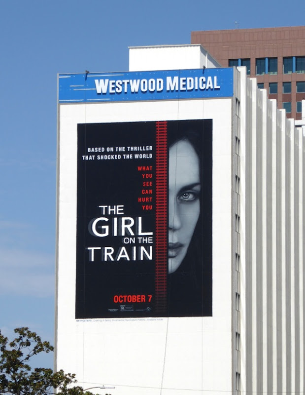 Girl on the Train giant movie billboard