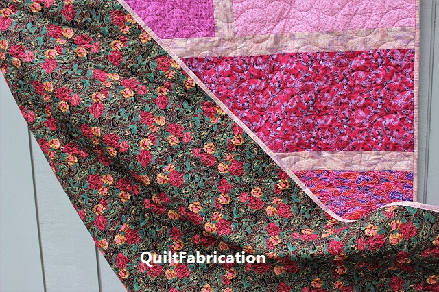 Paradise 4, a Quarter Cut pink floral quilt by QuiltFabrication