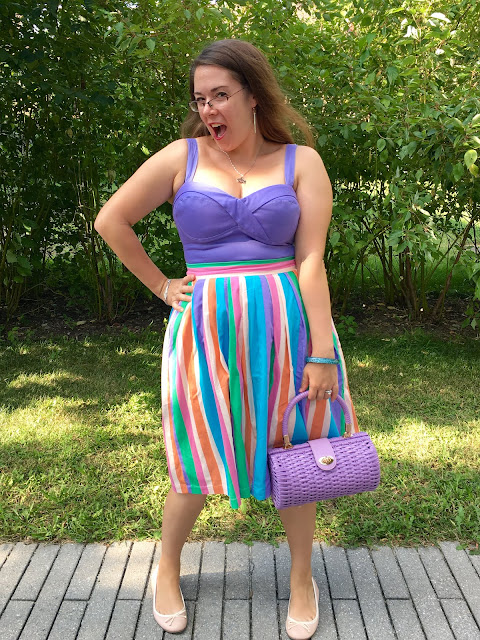 modcloth pastel striped skirt