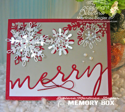 merry snowflakes card front