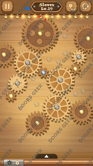 Fix it: Gear Puzzle [Gloves] Level 19 Solution, Cheats, Walkthrough for Android, iPhone, iPad and iPod