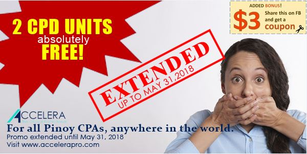 ACCELERA CPD points FREE for CPA professionals
