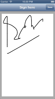 iOS smooth signature capture example