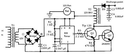 Negative Ion Generator 555 Timer