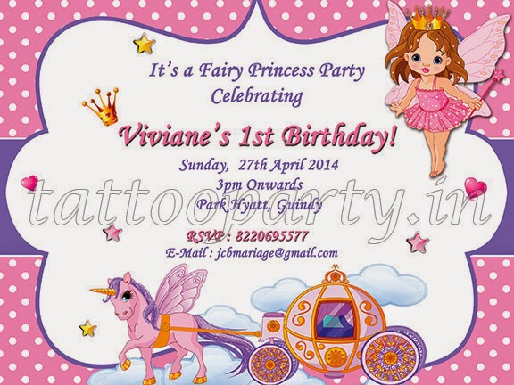 Tattooparty Fairy Theme Party