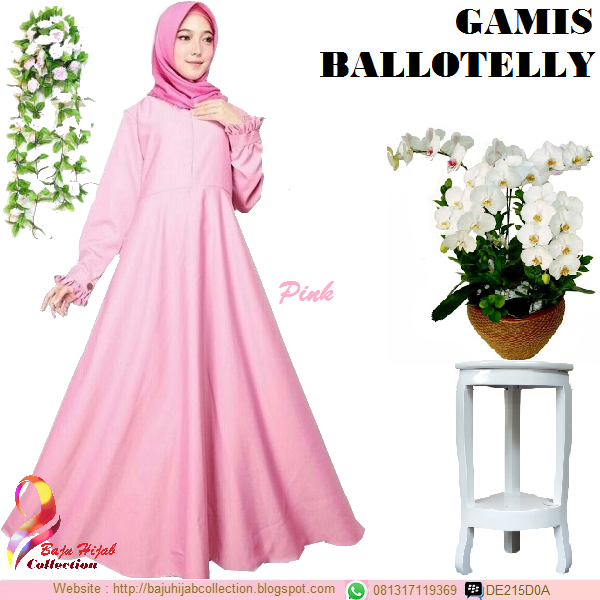 Gamis Ballotelly Pink
