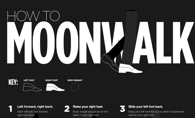 Image: How to Moonwalk [Infographic]