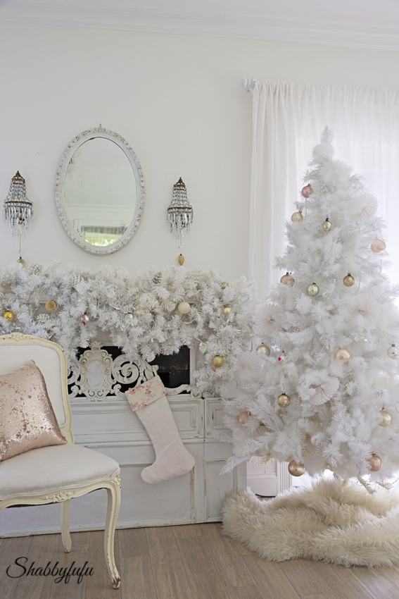 white christmas bedroom