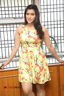 Actress Mannara Chopra Pictures in Floral Short Dress at Jakkanna Movie Interview  0052.JPG