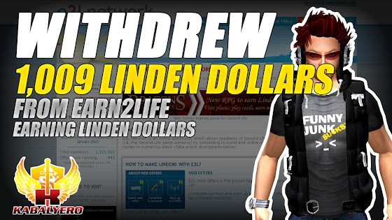 Withdrew 1009 Linden Dollars From Earn2Life ★ Earning Linden Dollars