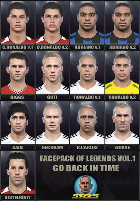 PES 2019 Facepack of Legends Vol 1 by Stels