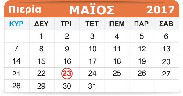 Γιορτάζουν σήμερα 23 Μαΐου