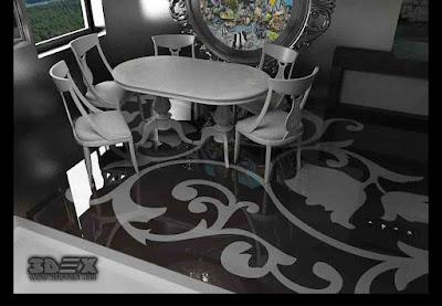 3D flooring design 3D epoxy floor coating for bathroom bedroom kitchen
