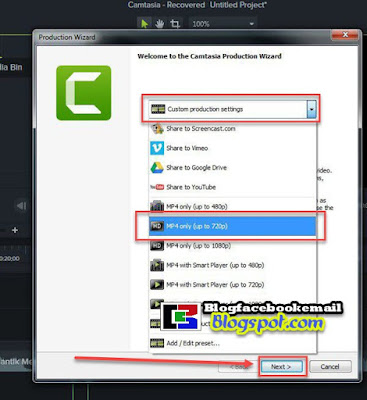 cara render video di camtasia