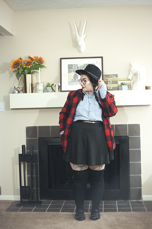 Plaid Sunday | katielikeme.com plaid coat chambray shirt
