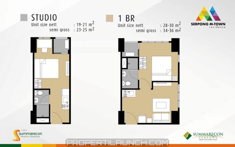 Apartemen Serpong M-Town Residence Tipe Studio & 1 BR