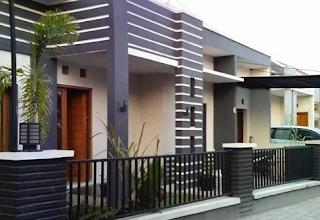 Disain Pagar Rumah Minimalis 1 lantai Sesuai Harga