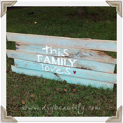 Create a Pallet Sign using my Free Printable | DIY beautify